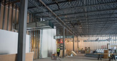 An image of IPSecure's new space under construction, which will add 12,000 square feet of secure space to expand testing and R&D capabilities.