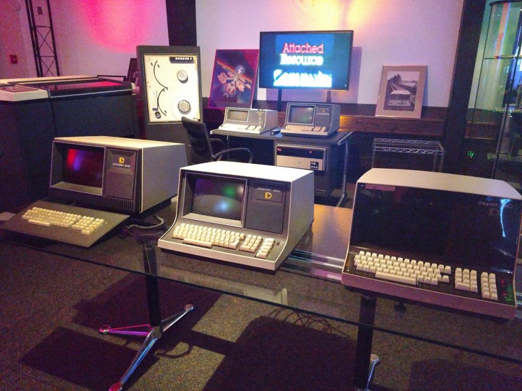 Display of first Datapoint computers at San Antonio Museum of Science and Technology
