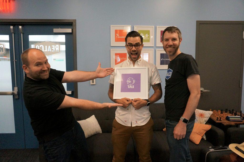 Oregon-based Tali joins RealCo. Co-founders are (left) Matt Hoiland, Matt Volm, and Matt Anthes-Washburn.