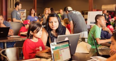 A free Youth Code Jam in San Antonio provides opportunities for students and their families to learn how to code. Photo credit: Open Book Studios.