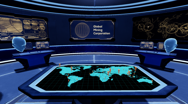 The screenshot from Ractive's virtual reality scenario shows a simulated cybersecurity network control. Courtesy image.