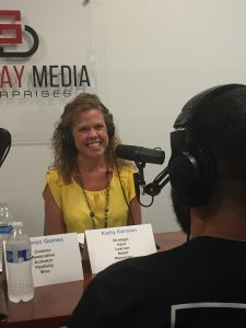 Lorenzo Gomez talks with podcast host Kathy Kersten on Geekdom Media's latest podcast release, Obey Your Strengths. Courtesy photo.