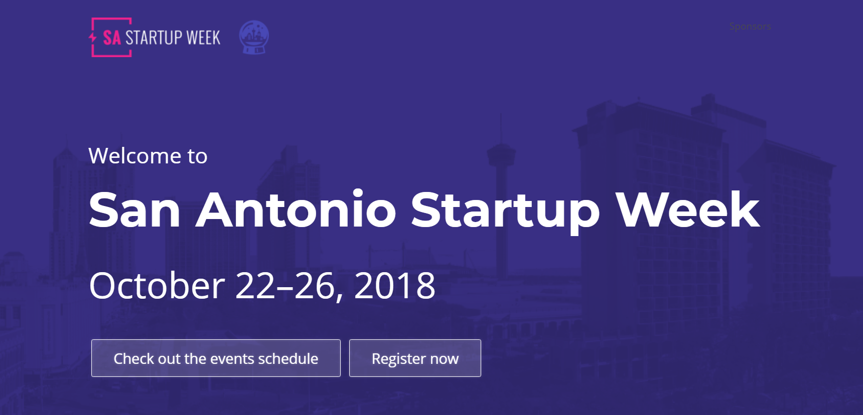 San Antonio Startup Events for the Week of October 22, 2018