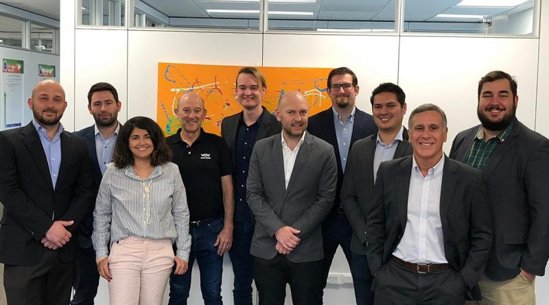 VelocityTX international accelerator graduated the first six companies. From left: Samuel Holtimann, Alejandro Bisquertt, Ana Carolina Lima, Gabriel Chernacov, Douglas Schmidt, Ricardo Holtimann, Nicolas Hayward, Allan Matarrita, Alex Lucena and Renan Baima. Courtesy photo.
