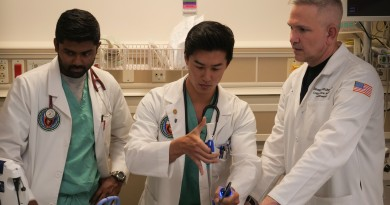 Dr. Steven Venticinque (right) teaches medical students at UT Health San Antonio's Long School of Medicine. Courtesy photo.