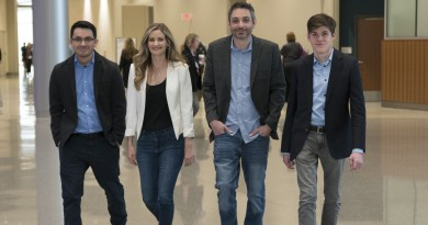 The IMG Studio team includes from left: Enrique Urbina, IMG Studio co-founders Heather and James Chandler, and Andrew Jacobson. Courtesy photo.