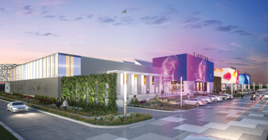 The industrial warehouse on the northeast corner of Billy Mitchell Boulevard and 36th Street could be developed into the future home for SAMSAT, an e-arena, and an industry showroom. The Renderings credit: Port San Antonio and Gonzalez   Mogas Architects.