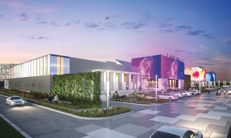 The industrial warehouse on the northeast corner of Billy Mitchell Boulevard and 36th Street could be developed into the future home for SAMSAT, an e-arena, and an industry showroom. The Renderings credit: Port San Antonio and Gonzalez | Mogas Architects.