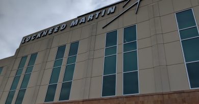 Lockheed Martin's company name is on the Project Tech building at Port San Antonio. Photo credit: Startups San Antonio.