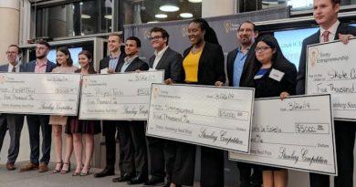 Trinity University Stumberg Venture Competition Seed Round winning teams.