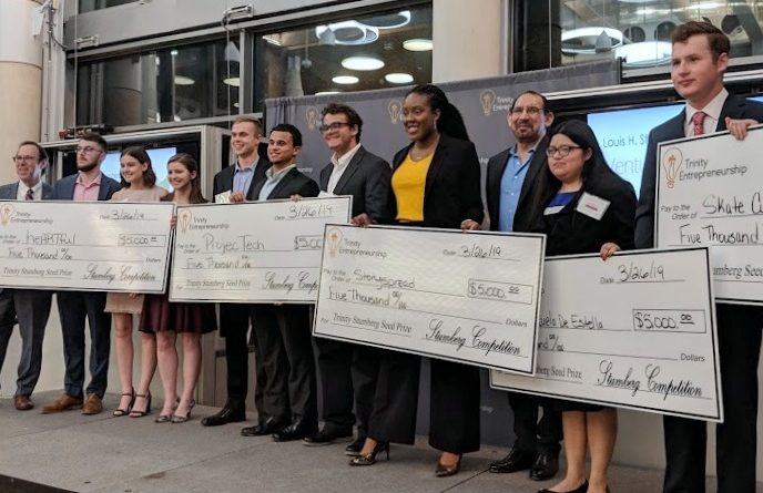 Trinity University Stumberg Venture Competition Seed Round winning teams.