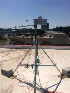 Leaptran has its solar forecasting imaging equipment on the roof of SATC. Courtesy image.