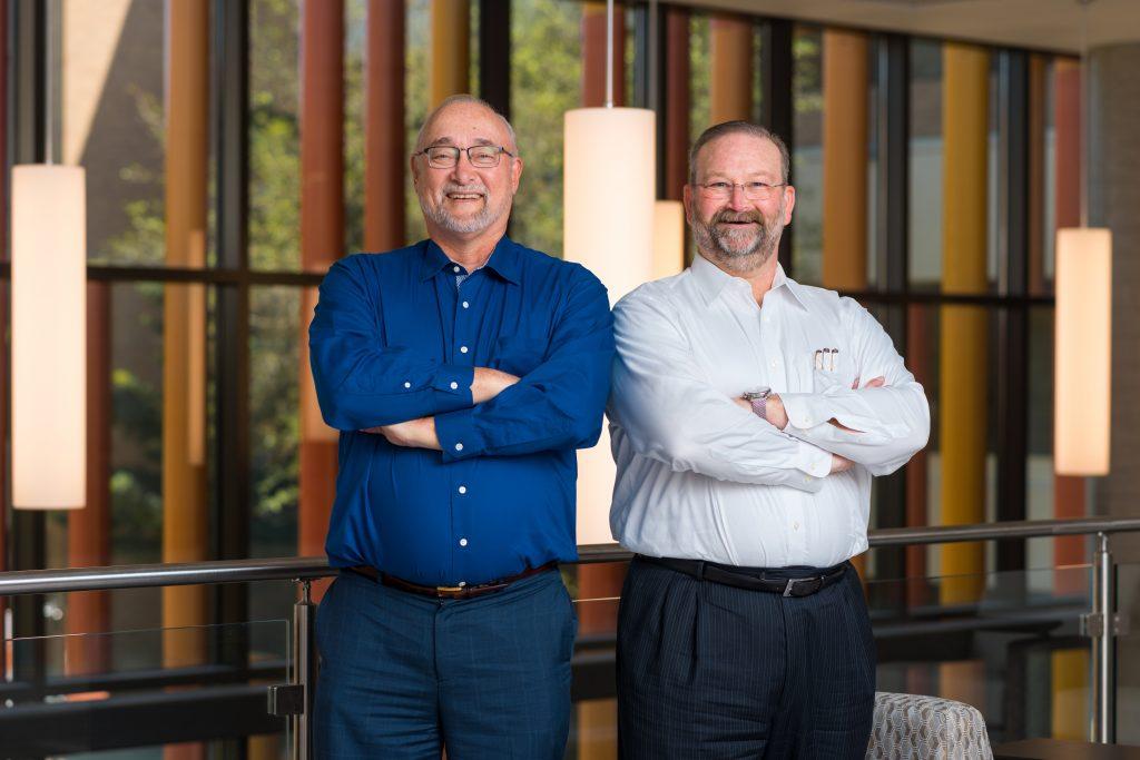 UT Health San Antonio TechNovum accelerator directors are John Fritz (left) and Sean Thompson. Photo courtesy UT Health San Antonio.