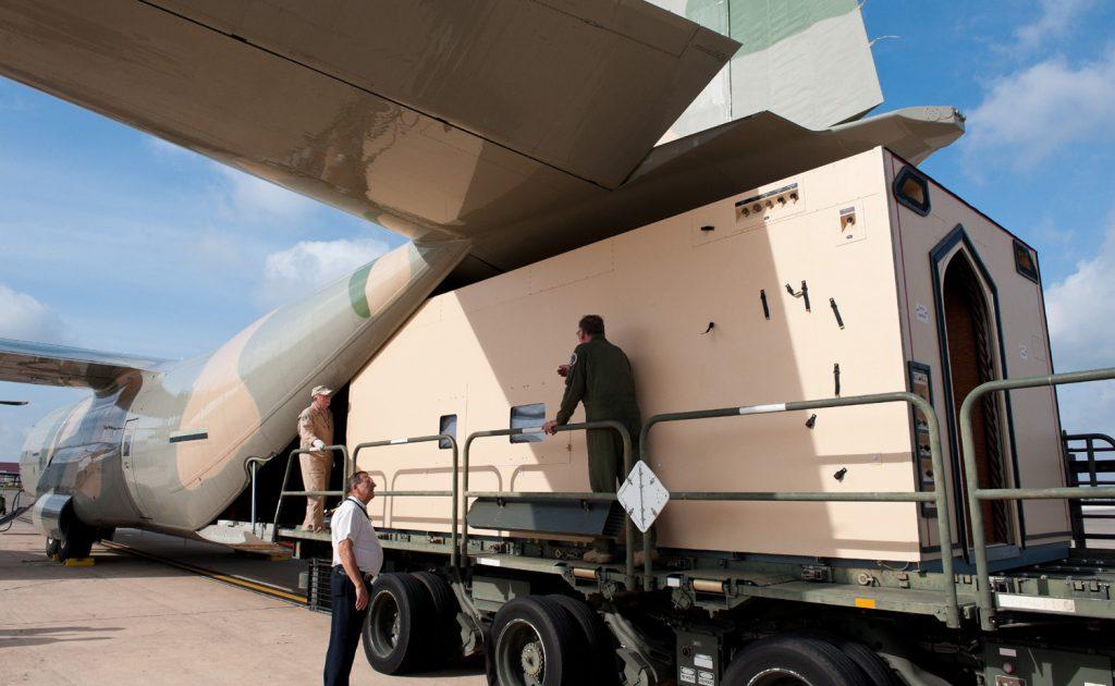Knight Aerospace loads a customized module onto a plane at Port San Antonio Kelly Field. Courtesy photo.
