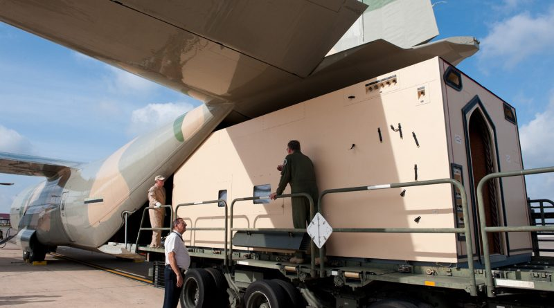 Knight Aerospace loads a customized module onto a plane at Port San Antonio Kelly Field. Courtesy photo.