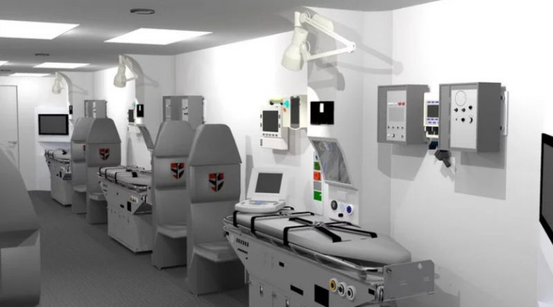 Knight Aerospace produced medical modules for critical care during flights. Courtesy image.