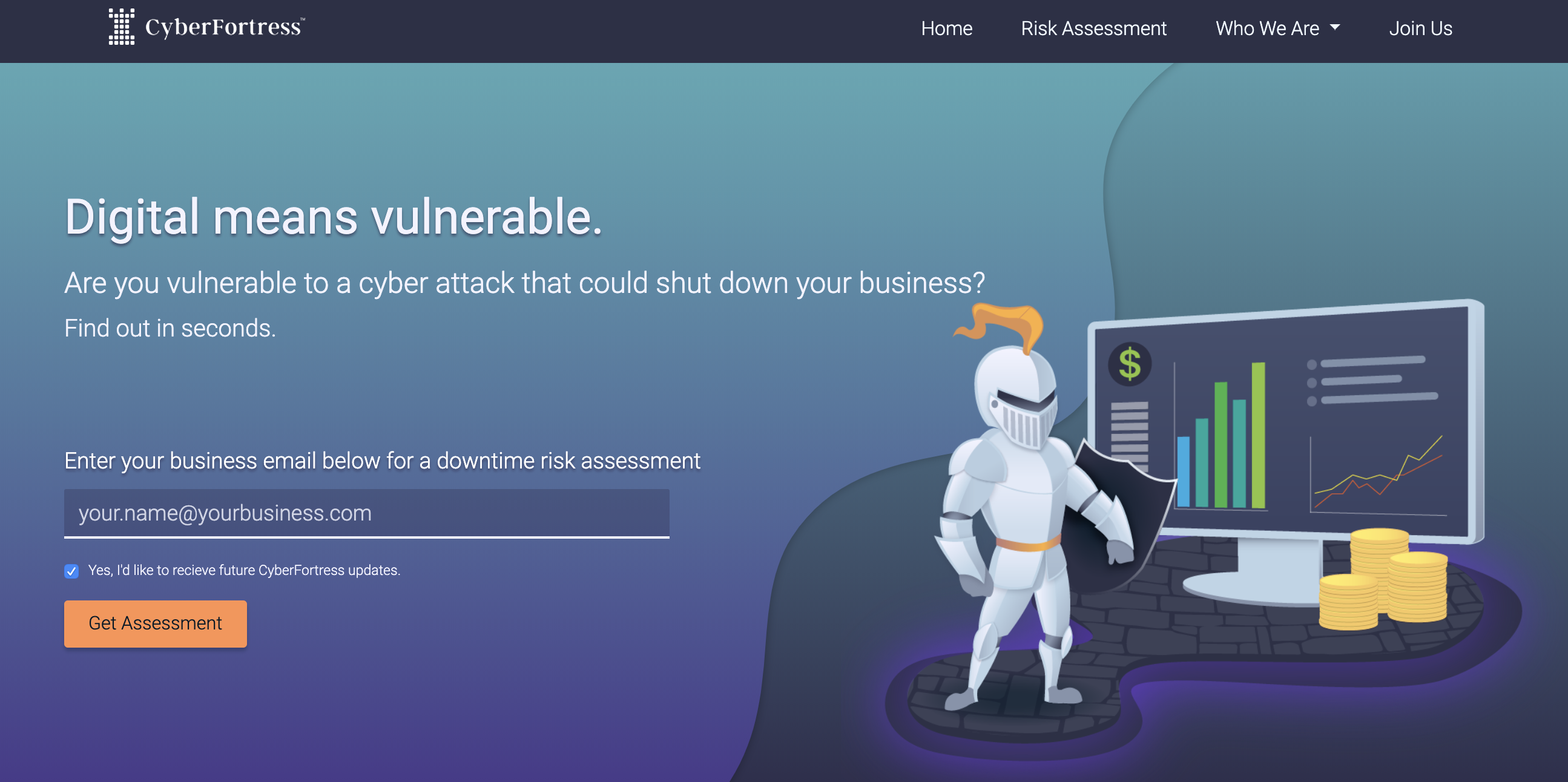 CyberFortress launched its cyber risk assessment as a free service. Courtesy image.