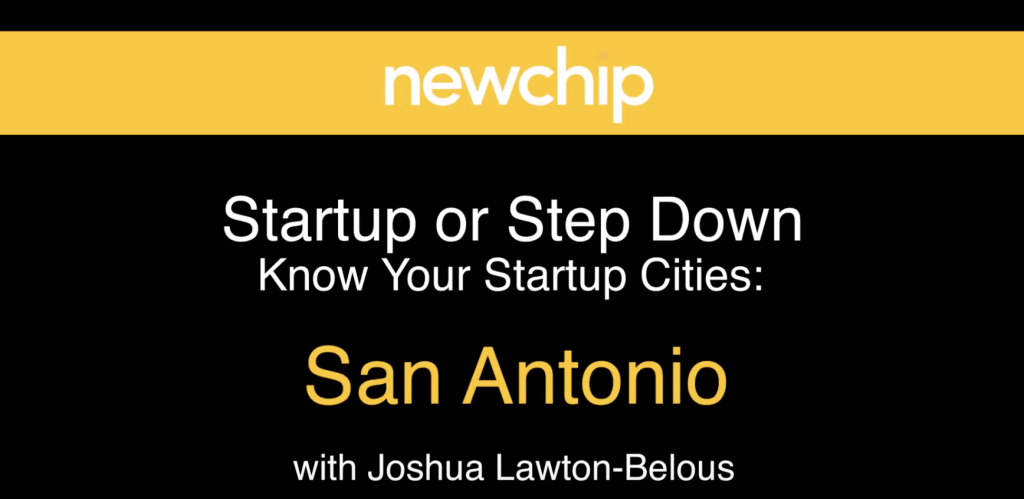 Newchip advisor Joshua Lawton interviews startup founders in San Antonio. Courtesy image.