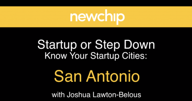 Newchip advisor Joshua Lawton interviews startup founders in San Antonio. Courtesy image.