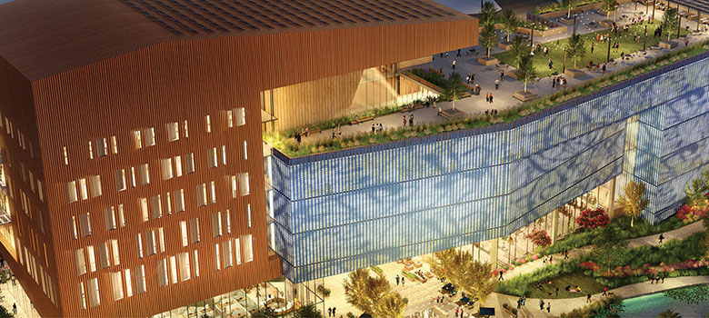 Rendering of the new NSCC building on UTSA's downtown campus. Image courtesy UTSA.
