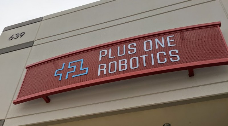 Plus One Robotics entrance to their new facility at Port San Antonio. Photo credit: Startups San Antonio.