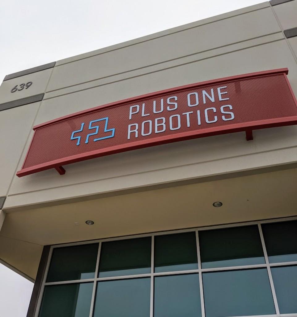 Plus One Robotics entrance to their new facility at Port San Antonio. Photo credit: Startups San Antonio.
