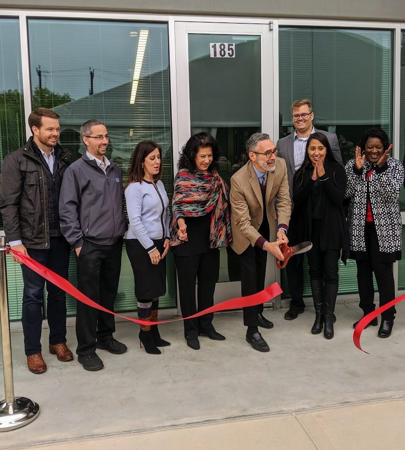 Ribbon cutting at Plus One Robotics new facility at Port San Antonio.