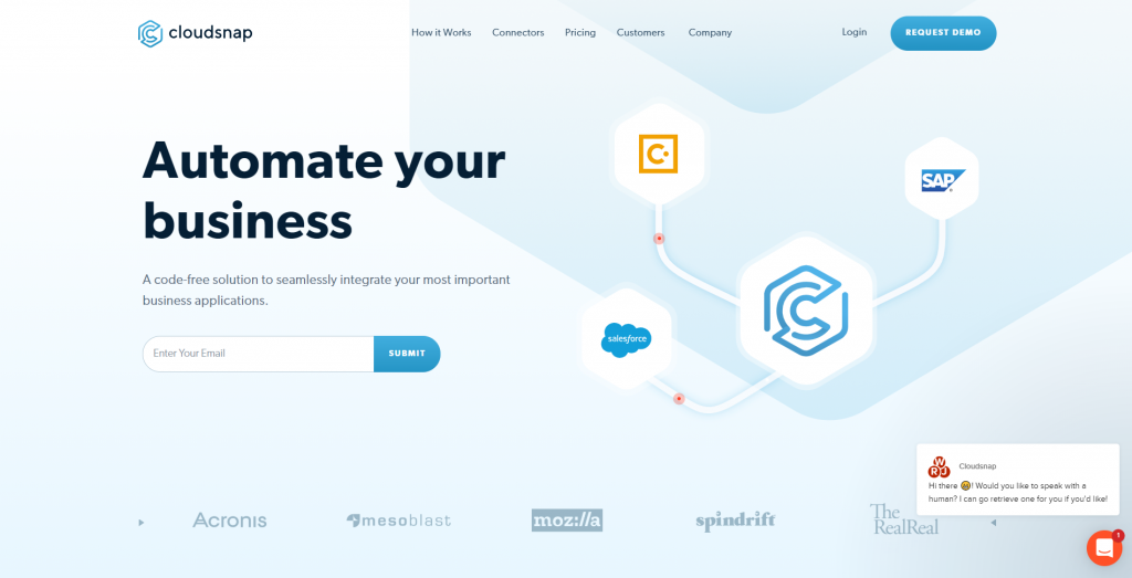 Cloudsnap is a software startup that offers mid-sized companies a cloud-computing Platform as a Service (PaaS) system.