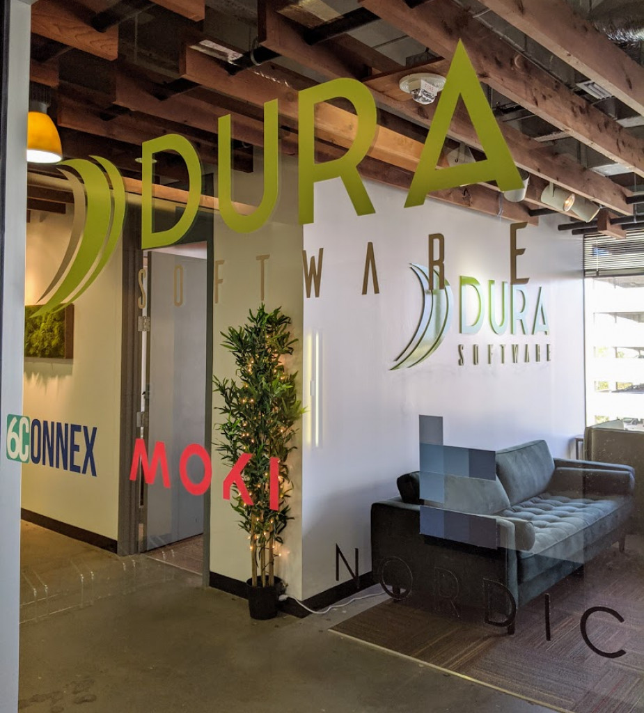The entrance to Dura Software, a holding company in downtown San Antonio. Photo credit: Startups San Antonio