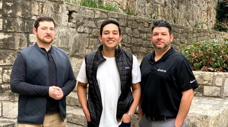 The FloatMe team includes VFA fellow and FloatMe chief operating officer Ryan Cleary, founder Josh Sanchez, and chief technology officer Chris Brown. Courtesy photo.
