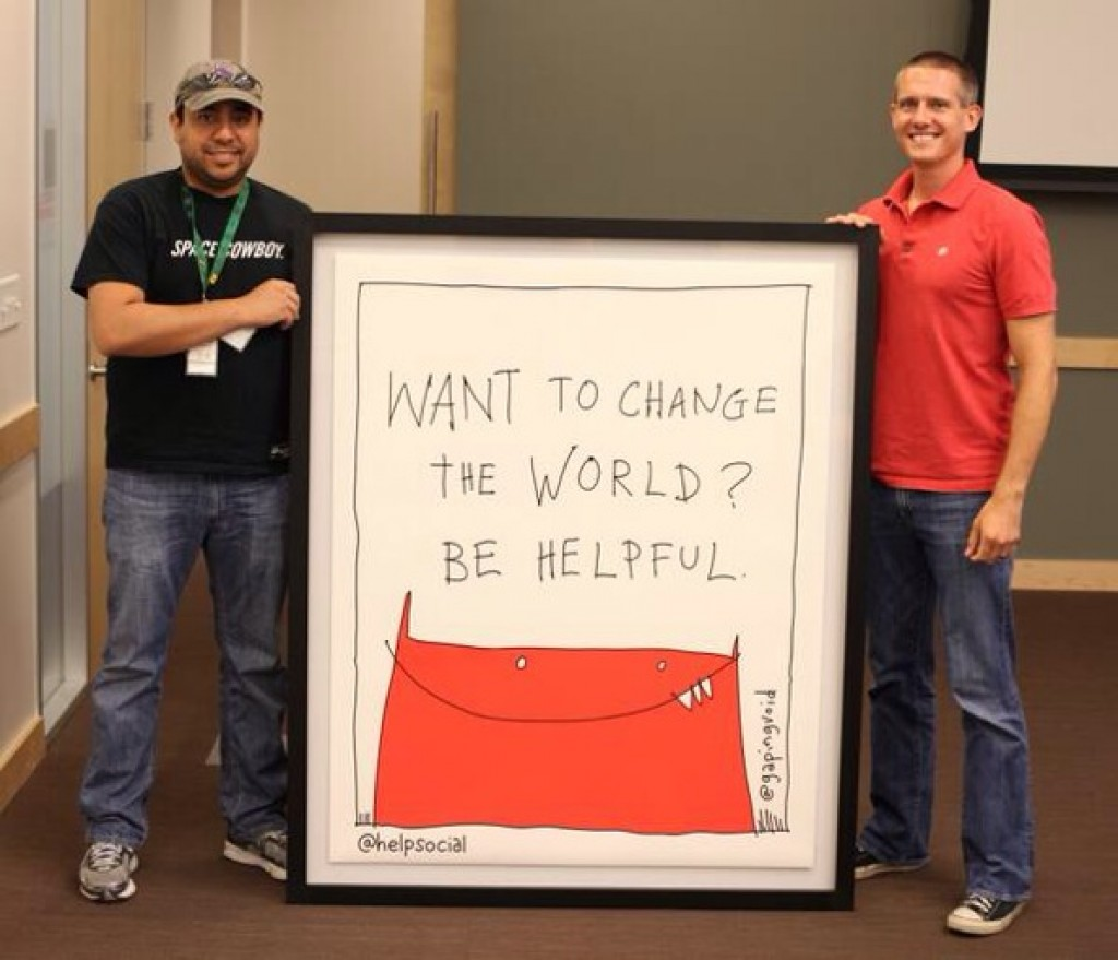 Robert Collazo (left) and Matt Wilbanks co-founded HelpSocial. Courtesy photo.