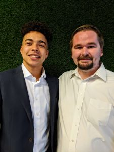 Polis members from left: Andre Gomes, Matt Munroe. Not pictured is Colby Doyal. Photo credit: Startups San Antonio.