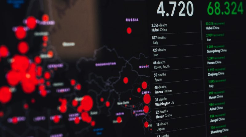 Image of the Johns Hopkins COVID-19 pandemic online tracker. Photo by Markus Spiske on Unsplash.
