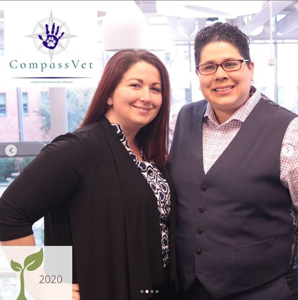 CompassVet was co-founded by student Tiffany Perez '22.