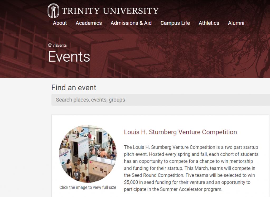 Trinity University Stumberg Competition