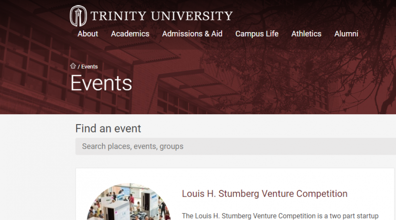 Trinity University Stumberg Competition