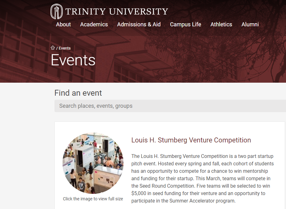 Trinity University Adapts to the COVID-19 Pandemic with Virtual Stumberg Competition