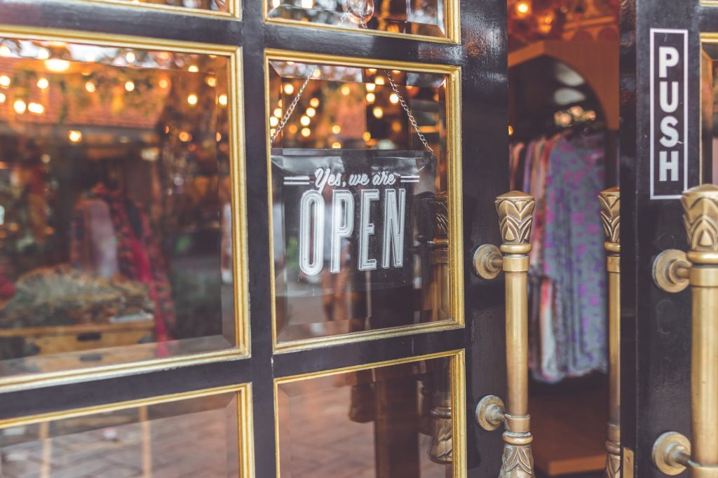 Shop Open sign, photo source Pexels