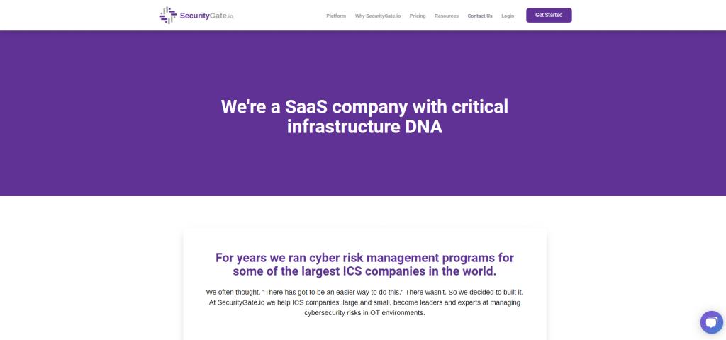 SecurityGate.io website screenshot