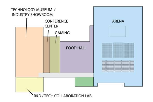 Port San Antonio innovation center floor plan. Image credit: Port San Antonio / RVK Architects.