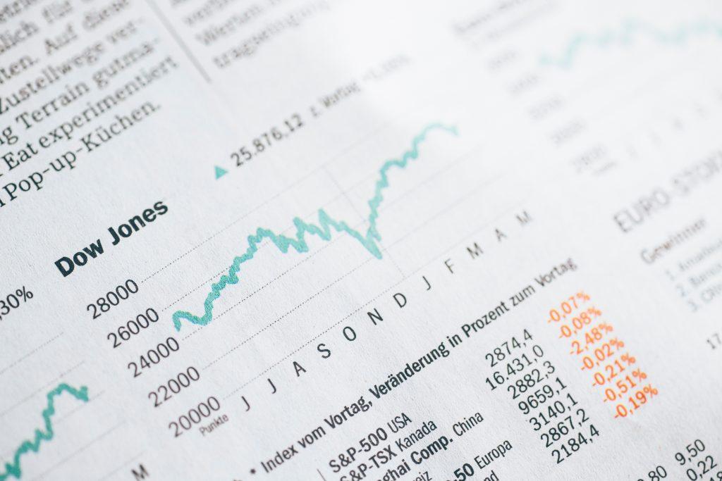 Image of a stock market graphic by Markus Spiske on Unsplash.