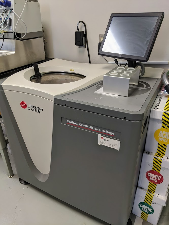 Crown Scientific has expensive research equipment like the Beckman Coulter ultracentrifuge. Photo credit: Startups San Antonio.