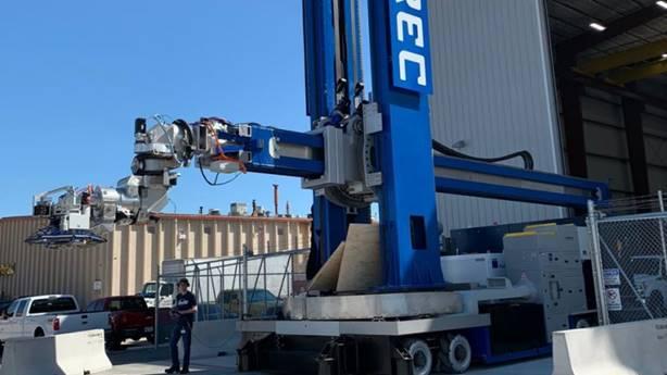 Xyrec industrial robot at Port San Antonio, courtesy image.