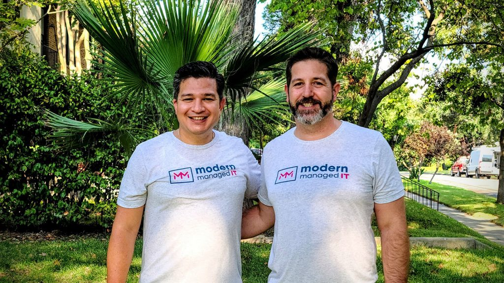 Modern Managed IT CEO Luis Rodriguez (left) and Bret Piatt, CEO of Jungle Disk, courtesy photo