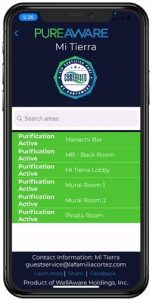 PureAware mobile app monitors indoor air purification performance, courtesy photo
