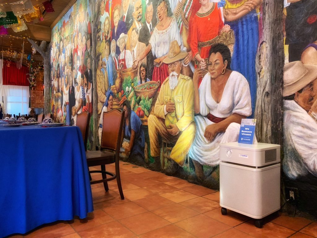 Mi Tierra was the first business to use WellAware's indoor smart air purification unit. Courtesy photo.