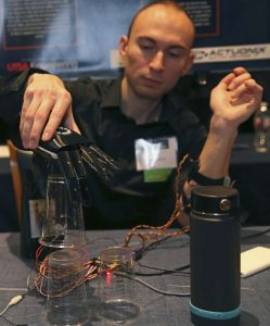 Alt-Bionics founder Ryan Saavedra and his bionic hand, courtesy image