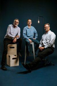 Founders of Plus One Robotics from left Erik Nieves, Shaun Edwards, Paul Hvass, courtesy photo